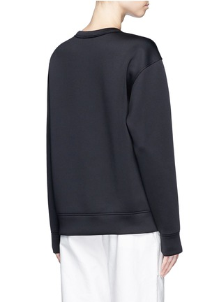 Back View - Click To Enlarge - Dkny - 'Don't Knock New York' print scuba jersey sweatshirt