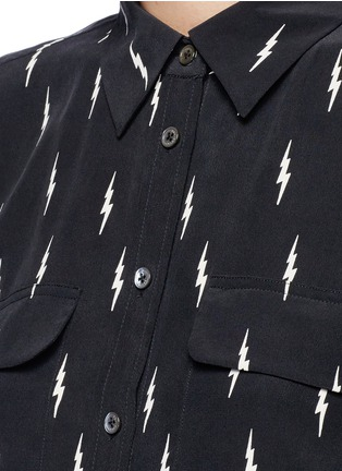 Detail View - Click To Enlarge - Equipment - x Kate Moss 'Slim Signature' lightning print silk shirt