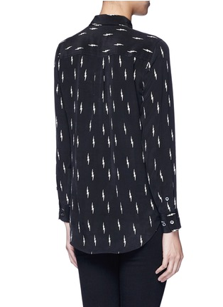 Back View - Click To Enlarge - Equipment - x Kate Moss 'Slim Signature' lightning print silk shirt