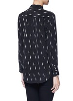 x Kate Moss 'Slim Signature' lightning print silk shirt