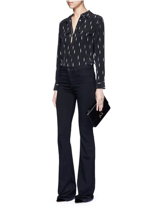 Figure View - Click To Enlarge - Equipment - x Kate Moss 'Slim Signature' lightning print silk shirt