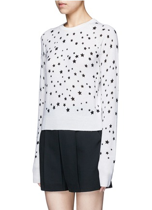 Front View - Click To Enlarge - Equipment - x Kate Moss 'Ryder' celestial print cashmere sweater