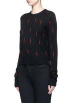 x Kate Moss 'Ryder' lightning print cashmere sweater