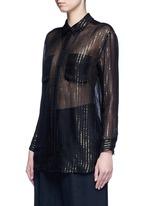 x Kate Moss 'Daddy' metallic stripe sheer silk shirt