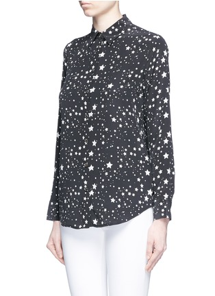 Front View - Click To Enlarge - Equipment - x Kate Moss 'Slim Signature Clean' star print silk shirt
