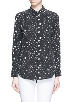 x Kate Moss 'Slim Signature Clean' star print silk shirt