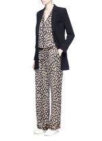 'Avery' leopard print silk pyjama pants