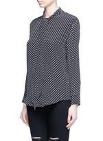x Kate Moss 'Collarless Slim Signature' star print silk shirt