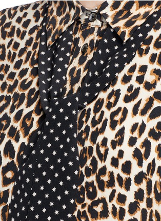 Detail View - Click To Enlarge - Equipment - x Kate Moss 'Slim Signature Clean' leopard print silk shirt
