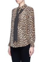 x Kate Moss 'Slim Signature Clean' leopard print silk shirt