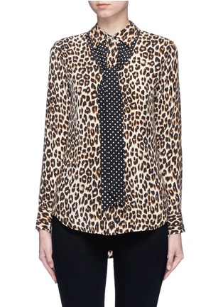 Main View - Click To Enlarge - Equipment - x Kate Moss 'Slim Signature Clean' leopard print silk shirt