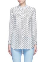 'Reese' Kate Moss print silk shirt
