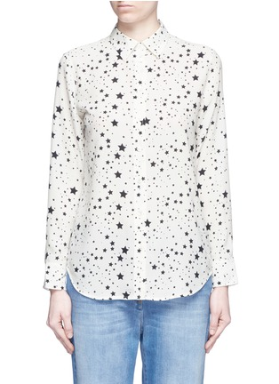 Main View - Click To Enlarge - Equipment - x Kate Moss 'Slim Signature Clean' star print silk shirt