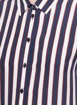 'Leema' stripe print silk shirt