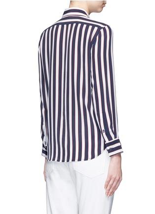 Back View - Click To Enlarge - Equipment - 'Leema' stripe print silk shirt