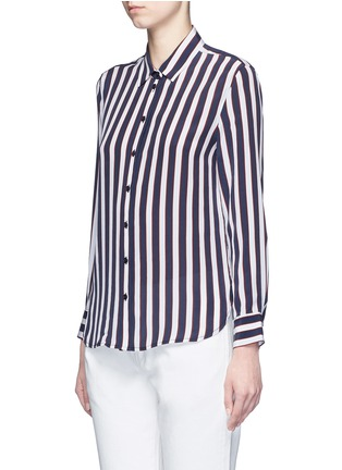 Front View - Click To Enlarge - Equipment - 'Leema' stripe print silk shirt