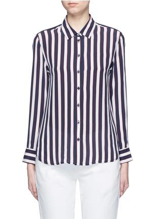 Equipment-'Leema' stripe print silk shirt