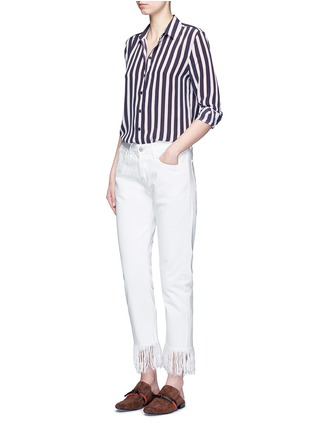 Figure View - Click To Enlarge - Equipment - 'Leema' stripe print silk shirt