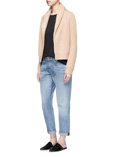 Vince Wool-cashmere chunky rib knit cardigan