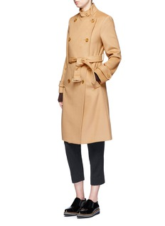 Vince Double breasted wool-cashmere trench coat
