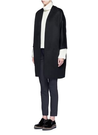 Front View - Click To Enlarge - Vince - Reversible wool-cashmere cardigan coat