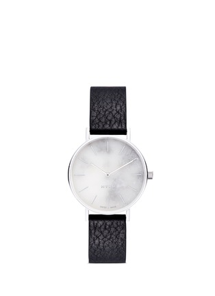 Main View - Click To Enlarge - Myku - One of a kind<br/>White marble stainless steel watch