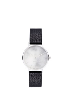Myku&nbsp;One of a kind<br/>White marble stainless steel watch