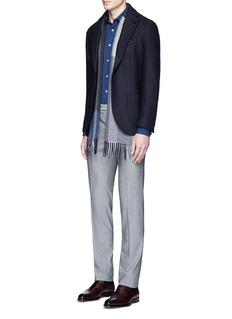 Altea Stripe wool jacquard soft blazer