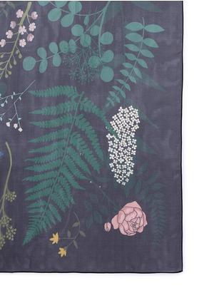 Karen Mabon-'Fallen Flowers' silk georgette scarf
