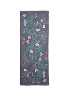 Karen Mabon'Fallen Flowers' silk georgette scarf