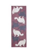 'Love Cats' silk georgette scarf