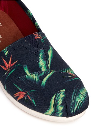 Detail View - Click To Enlarge -  - 'Birds of Paradise' Classic canvas slip-ons
