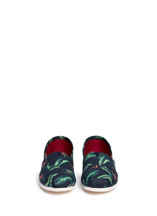 Front View - Click To Enlarge -  - 'Birds of Paradise' Classic canvas slip-ons