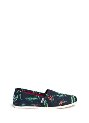 Main View - Click To Enlarge -  - 'Birds of Paradise' Classic canvas slip-ons