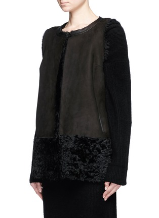 Front View - Click To Enlarge - KARL DONOGHUE - Reversible Alpine lambskin shearling gilet