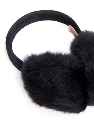 Detail View - Click To Enlarge - KARL DONOGHUE - Lambskin shearling suede band ear muffs