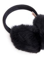 Lambskin shearling suede band ear muffs