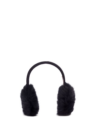Main View - Click To Enlarge - KARL DONOGHUE - Lambskin shearling suede band ear muffs