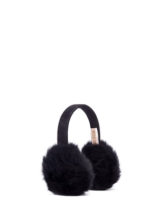Figure View - Click To Enlarge - KARL DONOGHUE - Lambskin shearling suede band ear muffs