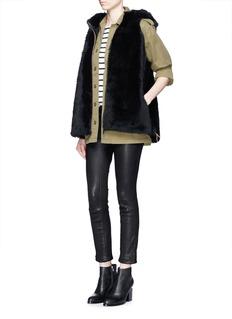 KARL DONOGHUEReversible cashmere lambskin shearling hooded gilet