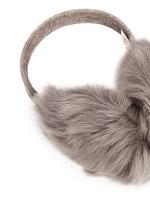 Mesh embossed Toscana lambskin shearling ear muffs