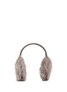 KARL DONOGHUEMesh embossed Toscana lambskin shearling ear muffs