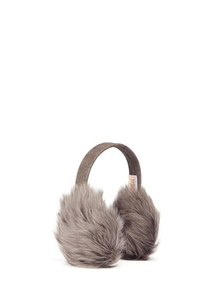 Figure View - Click To Enlarge - KARL DONOGHUE - Mesh embossed Toscana lambskin shearling ear muffs