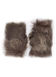 KARL DONOGHUEReversible Toscana lambskin shearling fingerless gloves