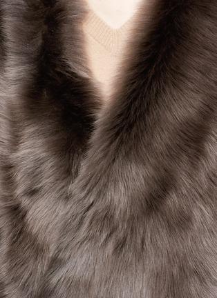KARL DONOGHUE-Reversible mesh embossed lambskin shearling drape gilet