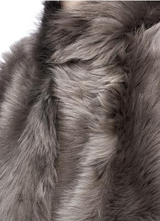 KARL DONOGHUE-Reversible mesh embossed lambskin shearling gilet