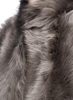 Reversible mesh embossed lambskin shearling gilet