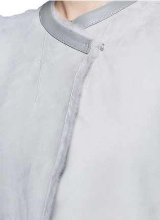 Detail View - Click To Enlarge - KARL DONOGHUE - Reversible cashmere lambskin shearling gilet