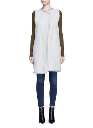 Main View - Click To Enlarge - KARL DONOGHUE - Reversible cashmere lambskin shearling gilet