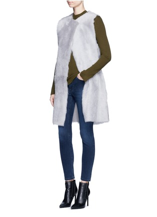 Figure View - Click To Enlarge - KARL DONOGHUE - Reversible cashmere lambskin shearling gilet